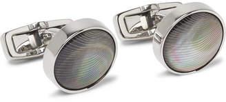 HUGO BOSS T-Kendal Gunmetal-Tone Mother-of-Pearl Cufflinks