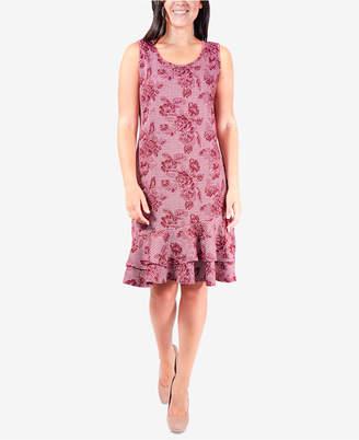 NY Collection Sleeveless Ruffle-Hem Dress