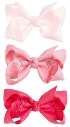 Milledeux 3-Piece Double Bow Hair Clip Set