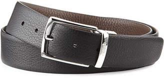 a.testoni Pebbled Leather Reversible Belt $240 thestylecure.com