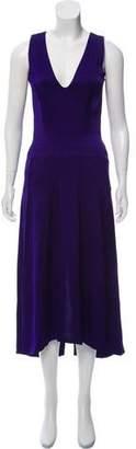 Victoria Beckham Satin Midi Dress w/ Tags