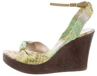 Missoni Woven Wedge Sandals