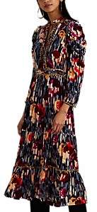 Ulla Johnson Women's Ziggy Embellished Floral Velvet Midi-Dress