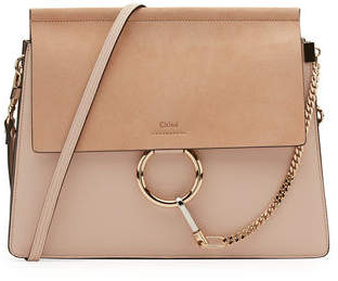 Chloé Faye Medium Leather & Suede Shoulder Bag