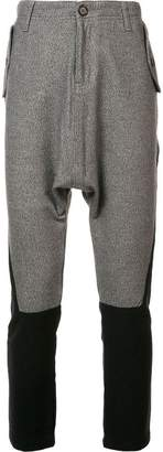 Mostly Heard Rarely Seen skinny cropped bicolour trousers