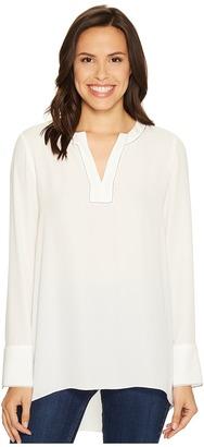 Ellen Tracy - Split-Neck Popover Women's Clothing $89.50 thestylecure.com