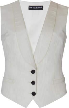Dolce & Gabbana Rounded-Lapel Faille Tuxedo Vest