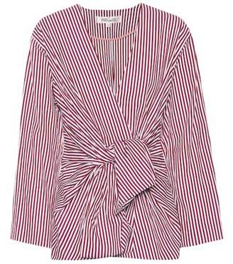 Diane von Furstenberg Striped cotton shirt