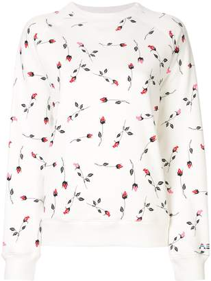 Adam Selman rose pattern sweatshirt