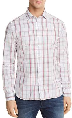 The Men's Store at Bloomingdale's Plaid Long Sleeve Button-Down Shirt