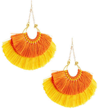 Panacea Double-Fan Drop Earrings