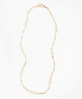 Brooks Brothers Gem-Studded Pearl Station Necklace