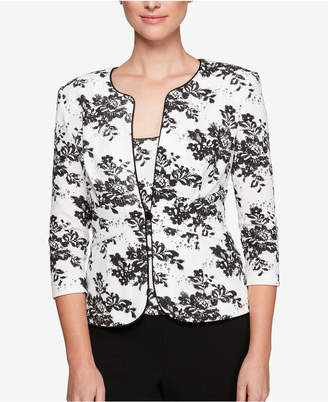 Alex Evenings Petite Embellished Floral Jacket & Shell