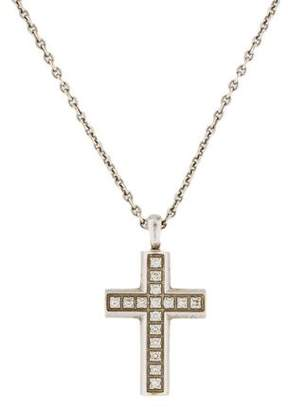 Bvlgari 18K Diamond Cross Pendant Necklace