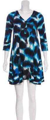 Diane von Furstenberg Luce Silk Printed Dress w/ Tags