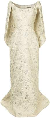 Zac Posen cape-effect gown