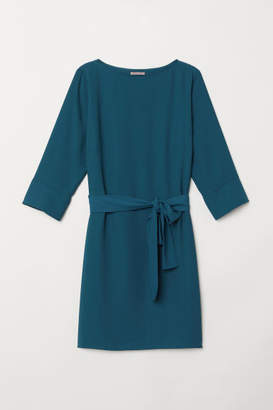 H&M H&M+ Dress with Tie Belt - Turquoise
