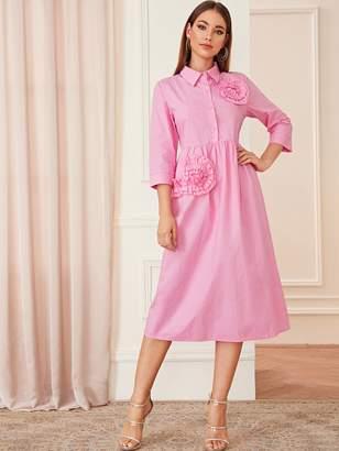 a061844358926 Flower Applique Dress - ShopStyle