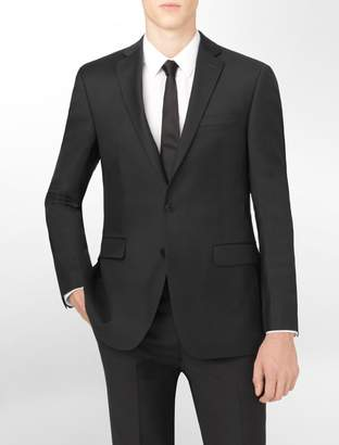 Calvin Klein body slim fit black wool suit jacket