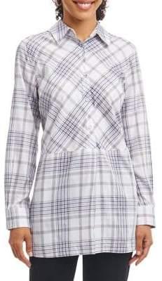 Foxcroft Plaid Cotton Tunic