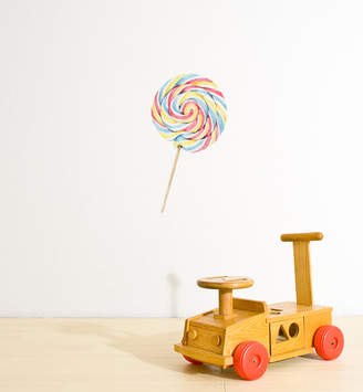 Little Sticker Boy Colourful Swirly Lollipop Wall Sticker