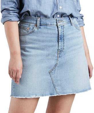 Levi's Levis Plus Size Distressed Denim Skirt