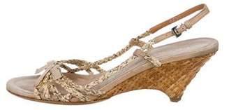 Prada Slingback Wedge Sandals