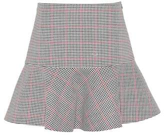 RED Valentino Houndstooth cotton-blend skirt