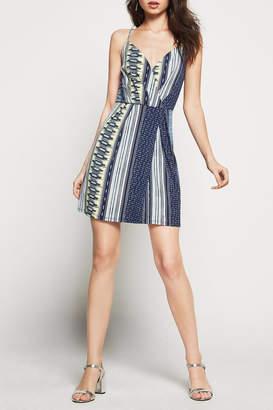 BCBGeneration Faux Wrap Surplice Dress