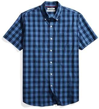Goodthreads Men's Standard-Fit Short-Sleeve Gingham Plaid Poplin Shirt
