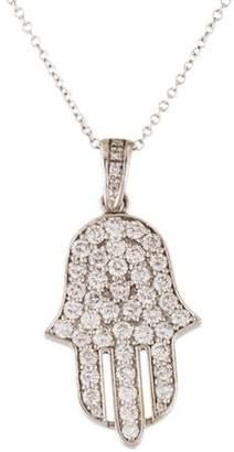 Reiss I. 14K Diamond Hamsa Pendant Necklace