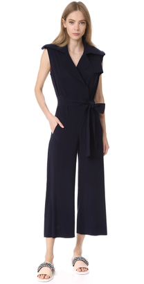 Norma Kamali Double Breasted Trench Jumpsuit $295 thestylecure.com
