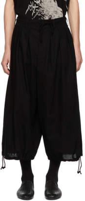 Yohji Yamamoto Black Basic Balloon Trousers