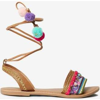 Dorothy Perkins Womens Leather Multi Colour 'Felicia' Sandals