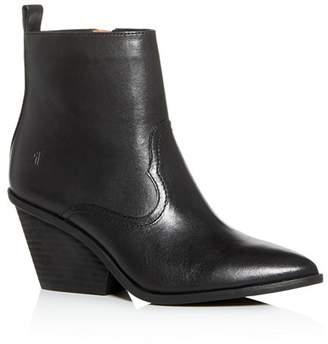Frye Women's Amado Pointed-Toe Western Wedge Booties