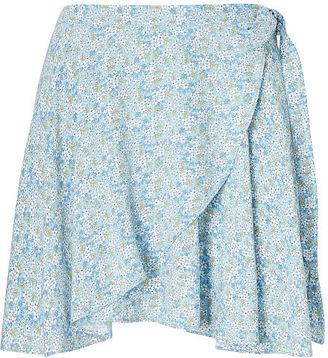 Ralph Lauren Denim & Supply Floral-Print Wrap Skirt $79.50 thestylecure.com