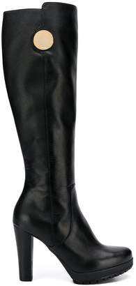 Emporio Armani chunky high heeled boots