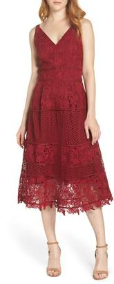 Adelyn Rae Beatrice Multi Style Lace Fit & Flare Dress
