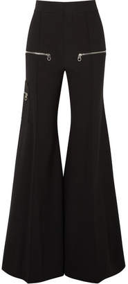 Chloé Stretch-wool Flared Pants - Black
