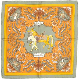 Hermes Vintage Orange Silk Silk handkerchief