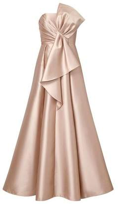Adrianna Papell Mikado Strapless Bow Dress