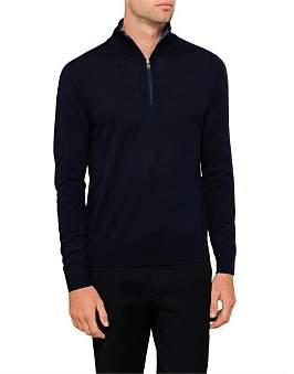 Paul Smith Wool Half Zip Sweater