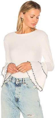 Endless Rose Bell Sleeve Top in Ivory $60 thestylecure.com