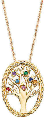 JCPenney FINE JEWELRY Personalized Birthstone Family Tree 14K Gold Over Brass Pendant Necklace