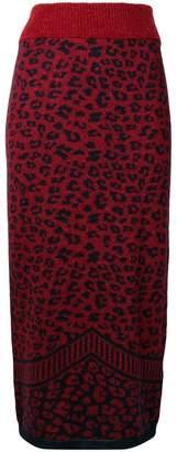 Chiara Bertani knitted leopard skirt