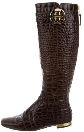 Tory BurchTory Burch Embossed Logo-Embellished Boots