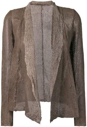 Salvatore Santoro draped leather jacket