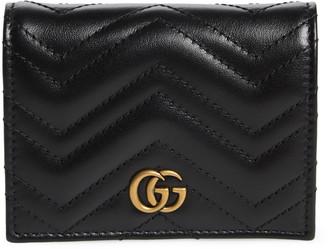 2a0bd5fa7 Gucci GG Marmont 2.0 Matelasse Leather Card Case