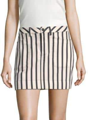 Alice + Olivia Gail Striped Mini Skirt