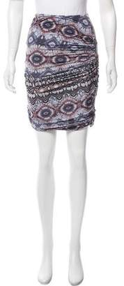 Torn By Ronny Kobo Printed Mini Skirt